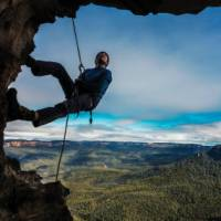 Abseiling opportunities are abundant in the Blue Mountains   David Hill