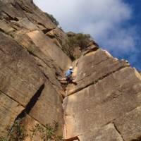 Climbing at Mt Piddington