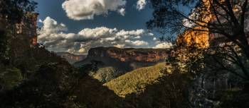 View across Grose Valley to Fortress Ridge | David Hill